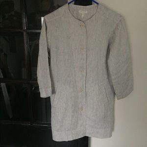 NWOT Eileen Fisher 3/4 Sleeve 100% Linen Blazer